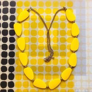 Yellow Acrylic Beaded Necklace